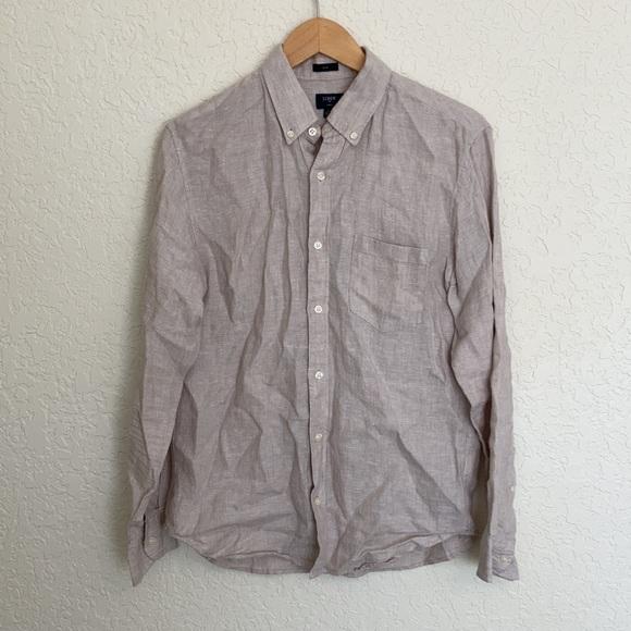 J.crew 100% linen button down shirt